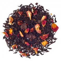 Black Tea With Rose Petals And Fruit Pieces